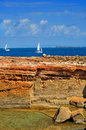 View punta de sa pedrera coast formentera balearic islands spain Royalty Free Stock Photos