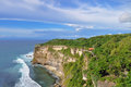 View from pura uluwatu temple bali indonesia is balinese sea in Stock Photo