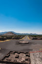 View from Pyramid of the Moon in Teotihuacan Royalty Free Stock Photo
