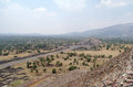 View from the pyramids at Teotihuacan Royalty Free Stock Photography