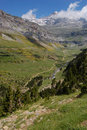 View of the Pyrenees valley Royalty Free Stock Images