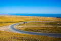 View of qinghai lake from a small mountain at province china Stock Image