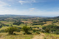 View from the quantock hills somerset england towards bristol channel views uk Stock Photography