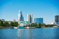 View quay wharf embankment yekaterinburg city Royalty Free Stock Photo