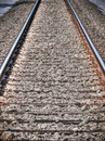 View of railroad track Royalty Free Stock Images
