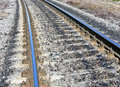View of the railway track on a sunny day Royalty Free Stock Images