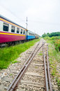 View of the railway track on a sunny day Stock Photography