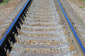 View of the railway track on a sunny day Royalty Free Stock Photos