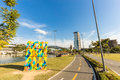 View of Ramiro Park. Blumenau, Santa Catarina Royalty Free Stock Photo