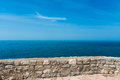 View from the ramparts of the sea marine series Royalty Free Stock Photo