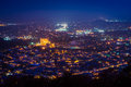 View of Reading at night from the Pagoda on Skyline Drive, in Re Royalty Free Stock Photo