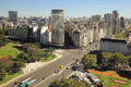 View of recoleta region in buenos aires the capital from the top the high building retiro on april argentina Stock Photo