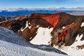 View from the Red Crater in the Tongariro National Park, New Zea Royalty Free Stock Photo