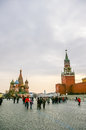 View on red square in moscow russia Royalty Free Stock Photos