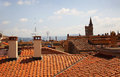 View of red tiled roofs in Florence. Italy Royalty Free Stock Photo