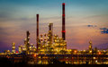 View of the refinery petrochemical plant in gdansk poland night europe Royalty Free Stock Image