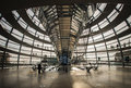 View of Reichstag dome on Apirl 17, 2013 in Berlin, Germany Royalty Free Stock Photo