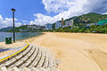 View of repulse bay beach in south hong kong island china is located the to the east deep water and to the west middle and Royalty Free Stock Images