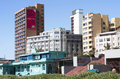 View of Residential Complexes on Beachfront in Durban South Afri Royalty Free Stock Images