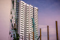View of residential housing apartment with construction site in Bukit Panjang. Royalty Free Stock Photo
