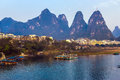 View of resort City of Guilin in Central China Royalty Free Stock Photo