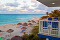 View from a resort at the cuban Varadero beach Royalty Free Stock Images