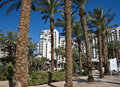 View on resort hotels in Eilat city, Israel Stock Photo