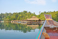 View of resort in Ratchaprapha Dam Royalty Free Stock Photography
