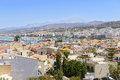 View on rethymno town crete greece from fortress fortezza Stock Photography