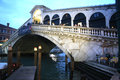 View of rialto bridge during an italian vacation called ognissanti a lot people come to venice also for biennale Stock Images