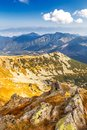 View from the ridge of the Low Tatras National Park in Slovakia