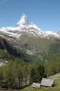 View from riffelalp of the matterhorn in swiss alps Royalty Free Stock Photo