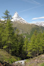 View from riffelalp of the matterhorn in swiss alps Royalty Free Stock Photography