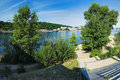 View of the right bank of the Dnieper in Kiev Royalty Free Stock Photo
