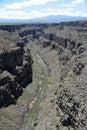 View of rio grande river from rio grande gorge bridge Royalty Free Stock Photo