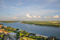 View on the river don rostov on don roof terrace with views over russia Stock Photo