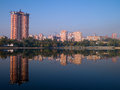 View of the river Donetsk Kalmius Stock Image