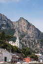 View of road on cliff to Anacapri Royalty Free Stock Photo