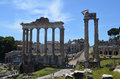 View of the Roman Forum Stock Photo