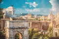 View of the Roman Forum in Rome Royalty Free Stock Photo