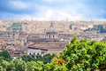 View of rome from the famous gianicolo in Royalty Free Stock Photos