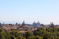 View rome passeggiata di gianicolo left to right largest catholic marian church santa maria maggiore fortified tower torre delle Stock Images