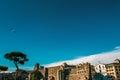 View of Rome on via dei fori imperiali Royalty Free Stock Photo