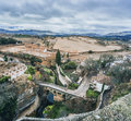 View of ronda and surrounding countryside province malaga andalusia spain Royalty Free Stock Photo