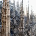 View from the roof of the Cathedral of Duomo in Milan Royalty Free Stock Photo