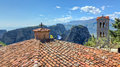 View from the roof of Varlaam monastery, Meteora Stock Photography