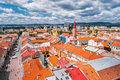 View on roofs in Kosice from St. Elisabeth cathedral