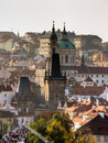 View on roofs in Prague Royalty Free Stock Photo