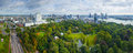 View of rotterdam city and park from euromast tower netherlands Royalty Free Stock Photos