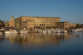 View of Royal Stockholm Palace, Sweden with the Great Church Royalty Free Stock Photo